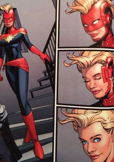 Captain Marvel -- How her helmet works.