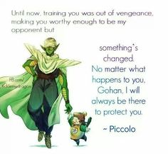 Piccolo is one of my favorite characters his character development was important to series plus he always fought no matter how powerful an opponent was! Respect!