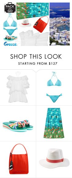 """Pack and Go - Greece"" by butterflykate88 ❤ liked on Polyvore featuring Tome, Brigitte, Chloé, Gucci, Proenza Schouler and Melissa Odabash"
