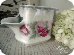 Vintage floral shaving mug