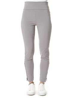 Grey Magic Stretch Trousers With Zip Leggings Style, Leggings Fashion, Kai, Shop Now, Trousers, Sweatpants, Grey, Clothing, Shopping
