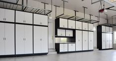 The GL Custom Steel cabinet system can be custom-fit to the available space in your garage. Garage Gym, Garage Laundry, Garage House, Garage Doors, Dream Garage, Garage Closet, Laundry Rooms, Garage Cabinet Systems, Garage Storage Cabinets
