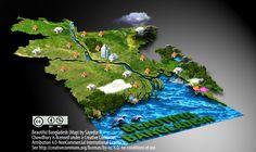 Beautiful Bangladesh (Map) - maps&maps