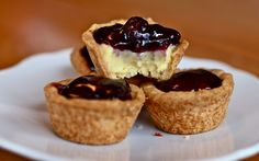 Blueberry Custard Tartlets by Yammie's Noshery