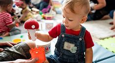 Cute little boy playing with toys at the learning center , Kindergarten Interior, Kindergarten Classroom, Baby Friends, Cute Little Boys, Asian Babies, Baby Diaper Bags, Boys Playing, Baby Play, Learning Centers