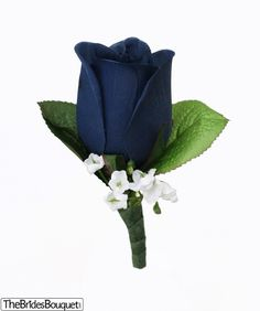 If navy blue is one of your wedding colors this silk rose boutonniere will look amazing on the men in your wedding. With the pin you need already included, this boutonniere is ready to walk down the a Prom Flowers, Blue Wedding Flowers, Wedding Colors, Wedding Ideas, Wedding Stuff, Bridal Flowers, Green Wedding, Wedding Themes, Pretty Flowers