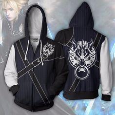 Final Fantasy Hoodies - Cloud Strife Zip Up Hoodie Jacket Final Fantasy Cloud, Final Fantasy Anime, Hoodie Jacket, Zip Hoodie, Game Costumes, Fantasy Costumes, Cloud Strife, Comfortable Fashion, Zip Ups