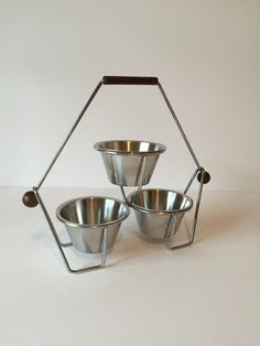 Vintage Condiment Caddy Mid Century Relish Dish by GirlGoesVintage