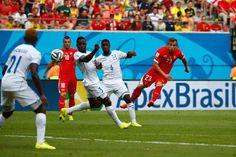 Xherdan Shaqiri (#Svizzera), rete contro l'#Honduras #Mondiali2014