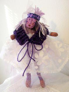 Miss Purple Ruby is Shabby Chic by FiberThreadYarn on Etsy, $85.00