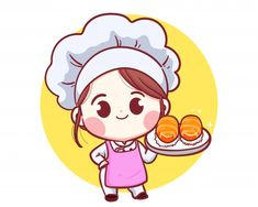 Cartoon Chef, Cartoon Logo, Cartoon Kids, Cartoon Art, Cute Wallpaper Backgrounds, Cute Wallpapers, Character Illustration, Illustration Art, Kitchen Cartoon