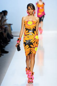 Spring/Summer 2012 Fashion Trend #4: Floral print: Blumarine SS 2012 kinda cute, but a little out there