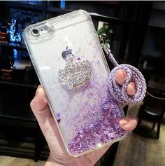Phone Case - Dynamic Liquid Glitter Sand Case with Hang Rope, For Samsung Galaxy S Series