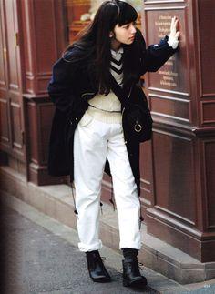 Nana Komatsu for Vikka magazine 2014 Fashion Moda, Girl Fashion, Fashion Outfits, Womens Fashion, Poses, Tomboy Look, Japan Fashion, Minimal Fashion, Hottest Models