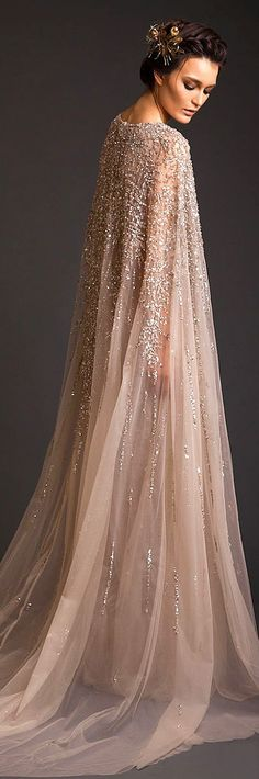 Krikor Jabotian Couture S/S 2014...There must be somebody who could pull this off.