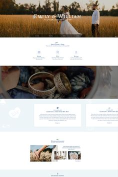 A wedding is a special event in everyone's life. Niche websites like a wedding site deserve a beautiful look such as this Wedding Page template. This example is built with sliders and blocks with Smart Slider Take a look. Page Template, Templates, Web Design, Sliders, Special Events, First Time, Wordpress, Wedding, Life