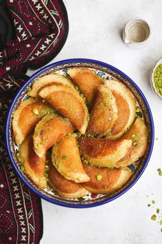 Atayef (Middle Eastern pancakes) Atayef recipe or gatayef kataief Arabic Dessert, Arabic Sweets, Arabic Food, Ramadan Recipes, Sweets Recipes, Cooking Recipes, Ramadan Desserts, Tofu Recipes, Cooking Tips