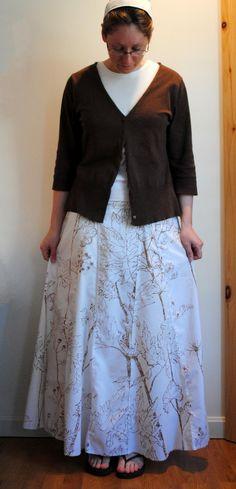 Lovely long skirt.