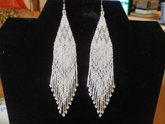 Native American Style Beaded White and by BeadedCreationsetc