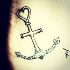 Faith , hope, love. Anchor Holds, though ship is battered
