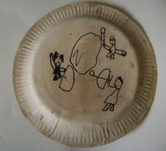Ancient Greek soldiers were also known as Hoplites. They carried a large shield often made of wood. These were painted by the individual soldiers to their own design. Our hoplite shield below is made out of a paper plate and some imagination!