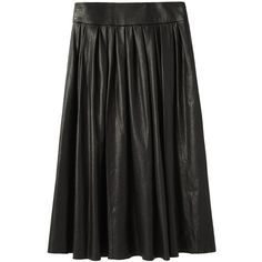 Organic by John Patrick Leather Skirt ($1,595) ❤ liked on Polyvore