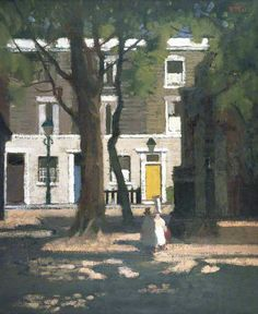 Corner in Chelsea by Charles James McCall. Love the two brightly colored  doors and the 88074ad355d2