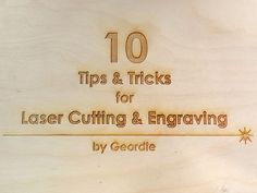 10 Tips and Tricks for Laser Engraving and Cutting: Hello, I'm Geordie and I currently work at ADX Portland running the Laser Cutter and Engraver. My job is to take in customer's projects, set Laser Art, 3d Laser, Laser Cut Wood, Laser Cutting, Wood Laser Ideas, Laser Cutter Ideas, Laser Cutter Projects, Cnc Projects, Backyard Projects