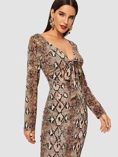 0eacac6a4d8c4 16 Best Snake skin dress images | Snake print, Snake skin dress ...