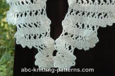 ABC Knitting Patterns - Bruges Lace Shawl.