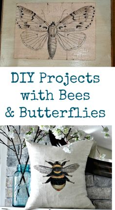 DIY Projects with Bees and Butterflies-by Karen Watson From The Graphics Fairy resources. All of these pretty crafts and projects were created using Vintage Graphics from my site. Some were created by me, some by my contributors and some were submitted by readers!