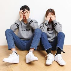 Ulzzang Style - Couple Style - Wattpad Source by style Korea Fashion, Kpop Fashion, Asian Fashion, Street Fashion, Ulzzang Couple, Ulzzang Girl, Ulzzang Style, Matching Couples, Matching Outfits