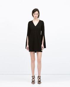 Zara, open sleeve dress, $39.90, available at Zara.