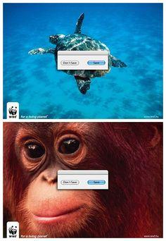 脑洞大开的WWF:公益海报赏析   TOPYS   全球顶尖创意分享平台 OPEN YOUR MIND   作品