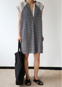 printed shirt dress. Via Death by Elocution