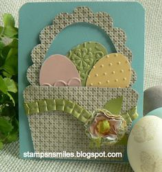 Stampin' Up! Easter  by Penny Smiley at Stampsnsmiles: Easter Basket Card