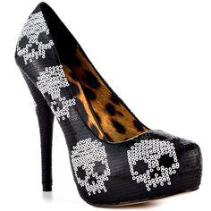 Skull shoes: not just for Halloween weddings | Offbeat Bride