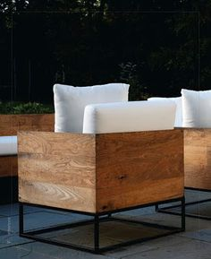 Industrial chair design - Would like to do this for the patio and add thick cushions