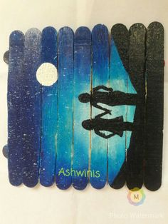 Popsicle painting rukhwat Icecream stick painting