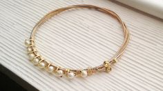 guitar string bangle gold bangle silver by RisingDawnBoutique