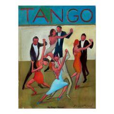 Mundial de tango por Diego Manuel. Póster