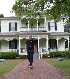 "Edgar Allan Poe's house in Fayetteville NC. Not ""the"" Poe - but a businessman of the same name."