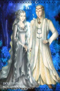Varda & Manwë ~ by Melian19 ~ created using the LotR Hobbit doll maker   DollDivine.com