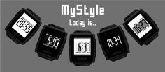 Set your own style. A very simple pebble watchface design with bigger numbers, a configurable background, and a custom text description for weather.
