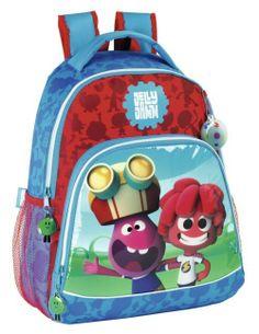 Jelly Jam - Mochila Adaptable a Carro. Artículo licenciado y original de la serie de televisión infantil Jelly Jam. Dimensiones: 33 cm x 41 cm x 12 cm.