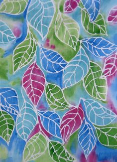 how to batik fabric with glue - Google Search