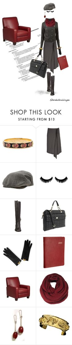 """Shy Girl, Serious Business"" by stormbattereddragon ❤ liked on Polyvore featuring Alexander McQueen, Yohji Yamamoto, Brixton, Sartore, Kate Spade, Barneys New York, ONLY, Buccellati and shy girl"