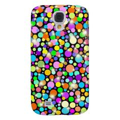 Psychedelic Colors Spheres Samsung Galaxy S4 Cases