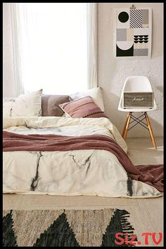 Interior Design Stories: Chelsea Victoria For DENY Marble Duvet Cover - Urb. Dream Bedroom, Home Bedroom, Bedroom Decor, Bedrooms, Bedroom Boys, Bedroom Modern, Contemporary Bedroom, Modern Contemporary, Bedroom Ideas