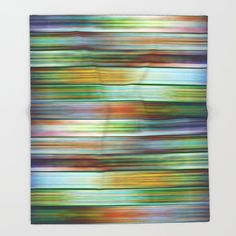 Buy Colorful Metal Ribbons Pattern Throw Blanket by annaki. Worldwide shipping available at Society6.com. Just one of millions of high quality products available.
